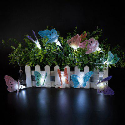 Battery-Powered Plastic Fiber Butterfly String Light for Home and Garden Decoration 10 LEDs and 1.65mLED Strips<br>Battery-Powered Plastic Fiber Butterfly String Light for Home and Garden Decoration 10 LEDs and 1.65m<br><br>Beam Angle: 300<br>Color Temperature or Wavelength: 6000-6500K<br>Features: Festival Lighting<br>LED Quantity: 10<br>Length ( m ): 1.65 m<br>Light Source: LED<br>Package Content: 1 x Plastic Fiber Butterfly String Light<br>Package size (L x W x H): 10.00 x 10.00 x 12.00 cm / 3.94 x 3.94 x 4.72 inches<br>Package weight: 0.2000 kg<br>Product size (L x W x H): 165.00 x 6.00 x 6.00 cm / 64.96 x 2.36 x 2.36 inches<br>Product weight: 0.1800 kg<br>Type: String Lights<br>Voltage: 3V<br>Wattage (W): 3