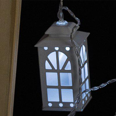 Battery-Powered Iron White Window House String Light for Home and Garden Decoration 10 LEDs and 1.65mLED Strips<br>Battery-Powered Iron White Window House String Light for Home and Garden Decoration 10 LEDs and 1.65m<br><br>Beam Angle: 300<br>Color Temperature or Wavelength: 6000-6500K<br>Features: Festival Lighting<br>LED Quantity: 10<br>Length ( m ): 1.65 m<br>Light Source: LED<br>Package Content: 1 x Iron White Window House String Light<br>Package size (L x W x H): 21.00 x 11.00 x 9.00 cm / 8.27 x 4.33 x 3.54 inches<br>Package weight: 0.4500 kg<br>Product size (L x W x H): 7.50 x 4.00 x 4.00 cm / 2.95 x 1.57 x 1.57 inches<br>Product weight: 0.4300 kg<br>Type: String Lights<br>Voltage: 3V<br>Wattage (W): 3