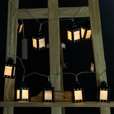 Battery-Powered Black Side Box String Light for Home and Garden Decoration 10 LEDs and 1.65m