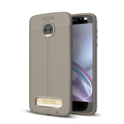 Funda para Motorola Moto Z2 Force Litchi Grain Anti Drop TPU Cubierta suave