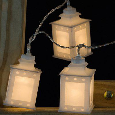 Battery-Powered White Side Box String Light for Home and Garden Decoration 10 LEDs and 1.65m