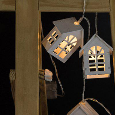 Battery-Powered White Wooden Window House String Light for Home and Garden Decoration 10 LEDs and 1.65mLED Strips<br>Battery-Powered White Wooden Window House String Light for Home and Garden Decoration 10 LEDs and 1.65m<br><br>Beam Angle: 300<br>Color Temperature or Wavelength: 3000-3200K<br>Features: Festival Lighting<br>LED Quantity: 10<br>Length ( m ): 1.65 m<br>Light Source: LED<br>Package Content: 1 x White Wooden Window House String Light<br>Package size (L x W x H): 10.00 x 10.00 x 18.00 cm / 3.94 x 3.94 x 7.09 inches<br>Package weight: 0.2500 kg<br>Product size (L x W x H): 6.30 x 5.20 x 4.00 cm / 2.48 x 2.05 x 1.57 inches<br>Product weight: 0.2200 kg<br>Type: String Lights<br>Voltage: 3V<br>Wattage (W): 3