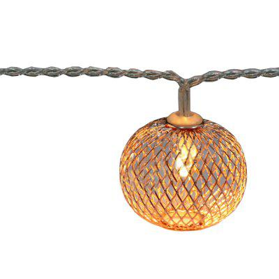 Battery-Powered Iron Bronze Lantern String Light for Home and Garden Decoration 10 LEDs and 1.65m