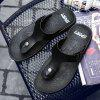 ZEACAVA 2018 New Summer Cool Water Flip Flops Men High Quality Soft Massage Beach Slippers Casual Shoes - BLACK