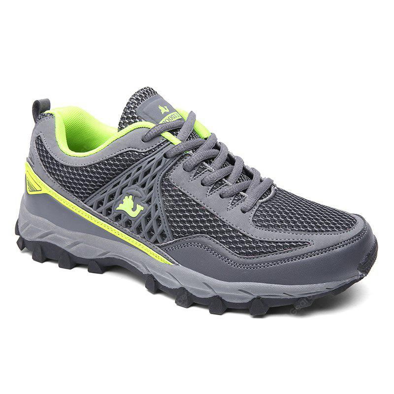 ZEACAVA Large Size Sports Mesh Breathable Men Running Hiking Shoes