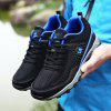 ZEACAVA Large Size Sports Mesh Breathable Men Running Hiking Shoes - DARK BLUE