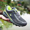 ZEACAVA Large Size Sports Mesh Breathable Men Running Hiking Shoes - GRAY