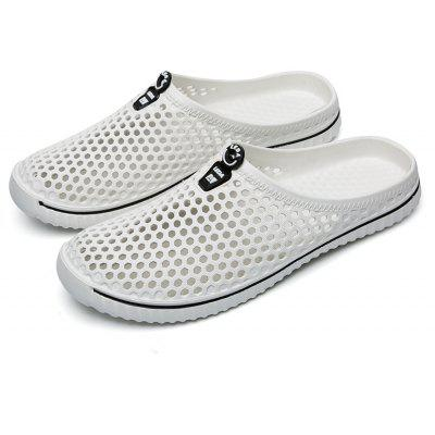 ZEACAVA Men Outdoor Hollow Out Breathable Slippers Peas ShoesMens Slippers<br>ZEACAVA Men Outdoor Hollow Out Breathable Slippers Peas Shoes<br><br>Available Size: 39-45<br>Embellishment: Hollow Out<br>Gender: Unisex<br>Outsole Material: Rubber<br>Package Contents: 1xShoes(Pair)<br>Pattern Type: Others<br>Season: Summer<br>Slipper Type: Outdoor<br>Style: Leisure<br>Upper Material: PU<br>Weight: 1.2000kg