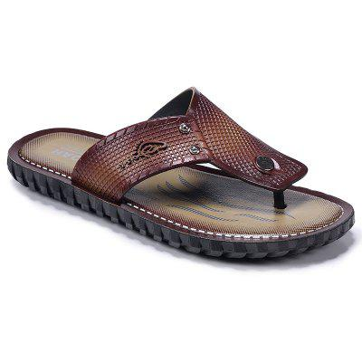 ZEACAVA Men Sandals Summer Outdoor Beach Fashion Flip Flops High Quality Casual Men's Slippers