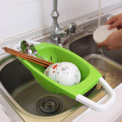 Creative Folding Plastic Drain Washing Basket