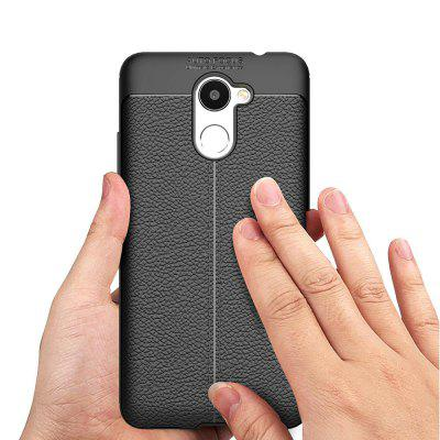 Shockproof Case for Huawei Enjoy 7 Plus / Y7 Prime Litchi Grain Anti Drop TPU Soft Cover