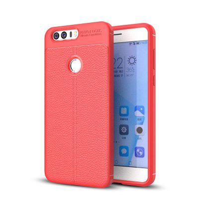 Estuche a prueba de golpes para Huawei Honor 8 Litchi Grain Anti Drop TPU Soft Cover