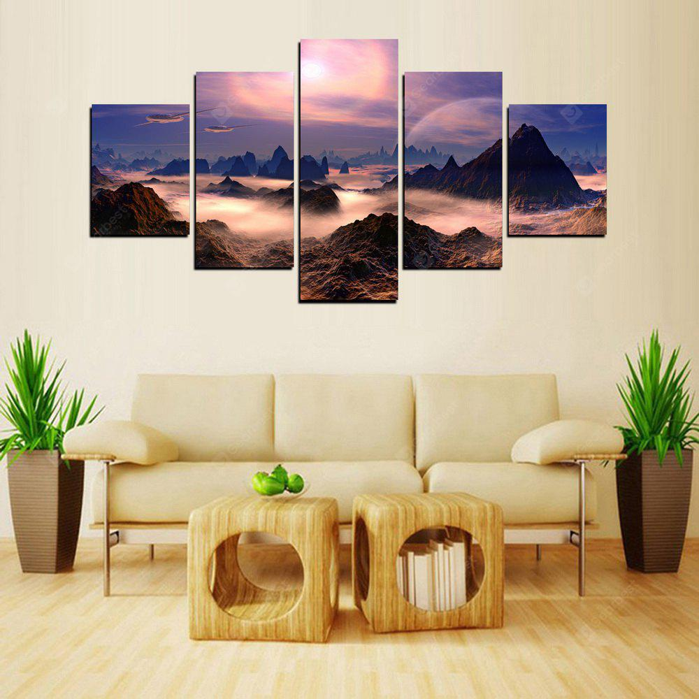 MailingArt FIV252  5 Panels Landscape Wall Art Painting Home Decor Canvas Print