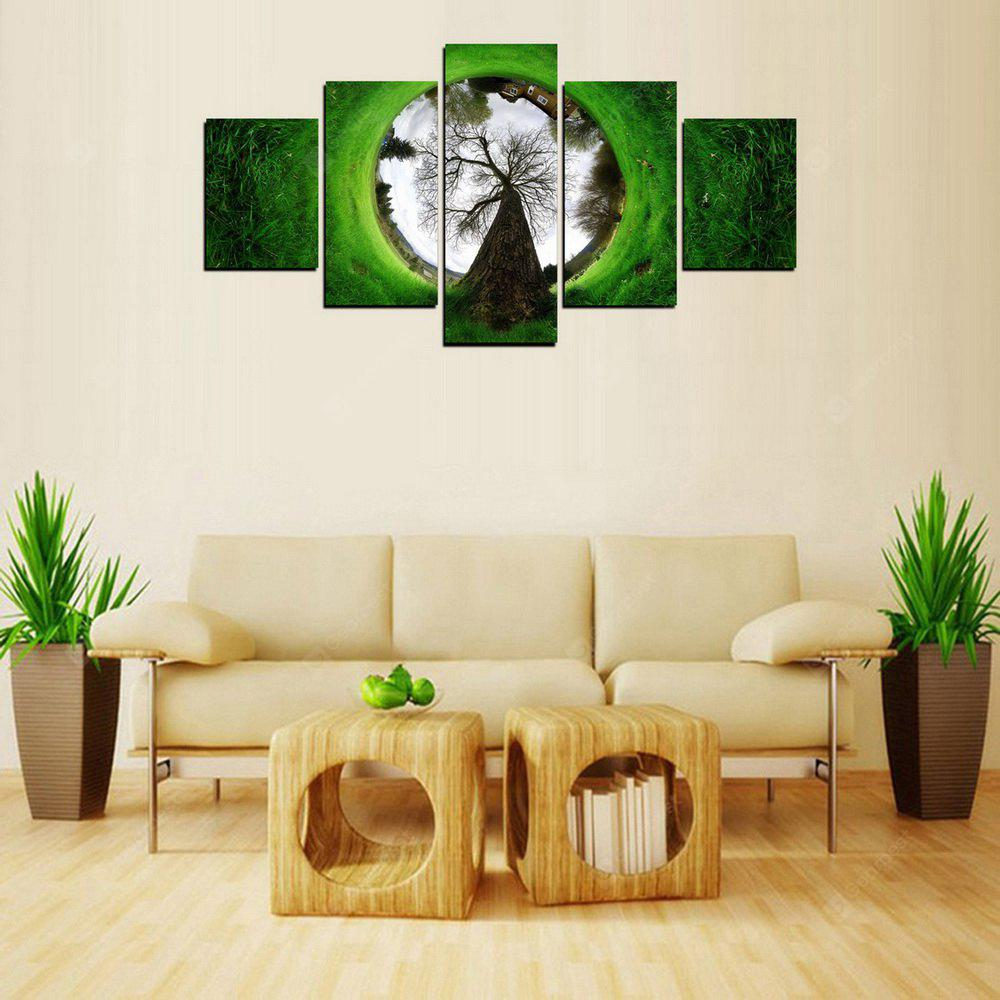 MailingArt FIV260 5 Panels Landscape Wall Art Painting Home Decor Canvas Print