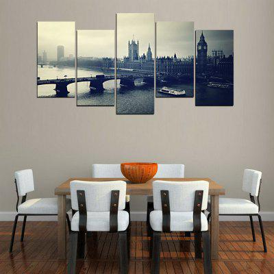 MailingArt FIV271  5 Panels Landscape Wall Art Painting Home Decor Canvas PrintPrints<br>MailingArt FIV271  5 Panels Landscape Wall Art Painting Home Decor Canvas Print<br><br>Craft: Print<br>Form: Five Panels<br>Material: Canvas<br>Package Contents: 5 x Print<br>Package size (L x W x H): 82.00 x 32.00 x 12.00 cm / 32.28 x 12.6 x 4.72 inches<br>Package weight: 1.8000 kg<br>Painting: Include Inner Frame<br>Shape: Horizontal Panoramic<br>Style: Vintage Style, Scenery / Landscape, City View, Natural, Vintage/Nostalgic Euramerican Style<br>Subjects: Architecture<br>Suitable Space: Living Room,Bedroom,Dining Room,Office,Hotel,Cafes,Kids Room,Kitchen,Hallway,Kids Room,Study Room / Office