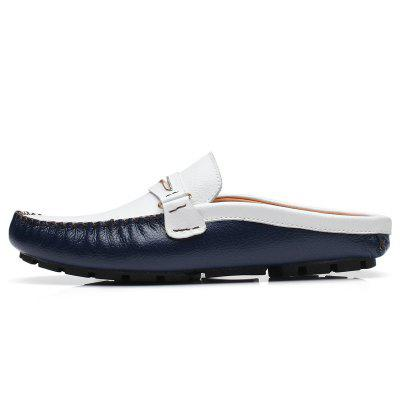 ZEACAVA Mens Business Leather Flat SlippersFlats &amp; Loafers<br>ZEACAVA Mens Business Leather Flat Slippers<br><br>Available Size: 38-44<br>Closure Type: Slip-On<br>Flat Type: Slingbacks<br>Gender: For Men<br>Heel Height: 2cm<br>Occasion: Casual<br>Package Contents: 1 x Shoes (Pair)<br>Package size (L x W x H): 30.00 x 20.00 x 10.00 cm / 11.81 x 7.87 x 3.94 inches<br>Package weight: 0.4500 kg<br>Pattern Type: Solid<br>Season: Spring/Fall<br>Toe Shape: Round Toe<br>Toe Style: Closed Toe<br>Upper Material: Full Grain Leather