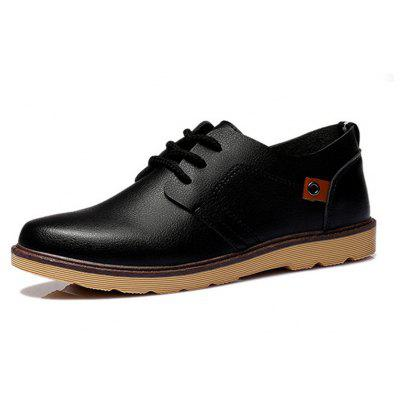 Fashion Casual Lace-up Leather Shoes for MenMen's Oxford<br>Fashion Casual Lace-up Leather Shoes for Men<br><br>Available Size: 39 - 44<br>Closure Type: Lace-Up<br>Embellishment: None<br>Gender: For Men<br>Outsole Material: Rubber<br>Package Contents: 1 x Shoes (pair)<br>Pattern Type: Solid<br>Season: Summer, Spring/Fall<br>Toe Shape: Round Toe<br>Toe Style: Closed Toe<br>Upper Material: PU<br>Weight: 1.2000kg