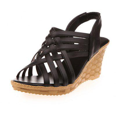 Women Wedge Thick Sandals Fashion Summer ShoesWomens Sandals<br>Women Wedge Thick Sandals Fashion Summer Shoes<br><br>Available Size: 35-40<br>Closure Type: Elastic band<br>Gender: For Women<br>Heel Height Range: High(3-3.99)<br>Heel Type: Wedge Heel<br>Insole Material: PU<br>Lining Material: PU<br>Occasion: Casual<br>Outsole Material: Rubber<br>Package Content: 1 x Sandals (pair)<br>Pattern Type: Solid<br>Sandals Style: Gladiator<br>Style: Leisure<br>Upper Material: PU<br>Weight: 1.0080kg