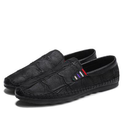Spring and Summer Peas Shoes Thin Bottom Shoes for MenFlats &amp; Loafers<br>Spring and Summer Peas Shoes Thin Bottom Shoes for Men<br><br>Available Size: 39-44<br>Closure Type: Slip-On<br>Embellishment: Ruched<br>Gender: For Men<br>Outsole Material: Rubber<br>Package Contents: 1 x Shoes (Pair)<br>Pattern Type: Solid<br>Season: Spring/Fall<br>Toe Shape: Round Toe<br>Toe Style: Closed Toe<br>Upper Material: PU<br>Weight: 1.2000kg
