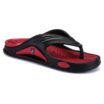 Men Summer  Massage Insole Men Flip Flops