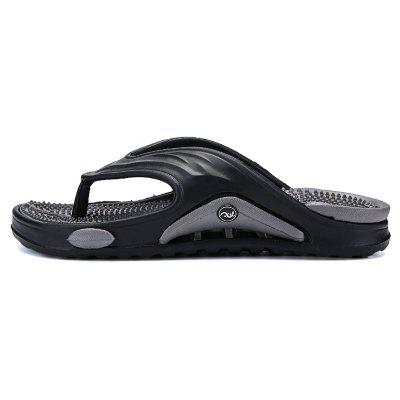 Men Summer  Massage Insole Men Flip FlopsMens Slippers<br>Men Summer  Massage Insole Men Flip Flops<br><br>Available Size: 39-44<br>Closure Type: Slip-On<br>Flat Type: Slingbacks<br>Gender: For Men<br>Heel Height: 2cm<br>Occasion: Casual<br>Package Contents: 1xShoes(Pair)<br>Package size (L x W x H): 30.00 x 20.00 x 5.00 cm / 11.81 x 7.87 x 1.97 inches<br>Package weight: 0.3000 kg<br>Pattern Type: Solid<br>Season: Summer<br>Toe Shape: Round Toe<br>Toe Style: Closed Toe<br>Upper Material: PU