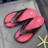 Men Summer  Massage Insole Men Flip Flops - RED