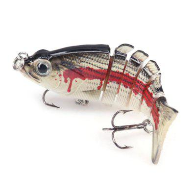 DEUKIO 6 Sections  Lure Bait F6J06 Multi-Baits Sink Bass Fishing