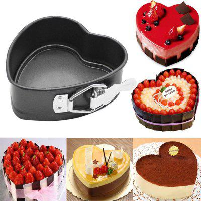 Cake Mold Heart Shaped Non-Stick Springform Mold Removable Bottom Pan Baking Mould
