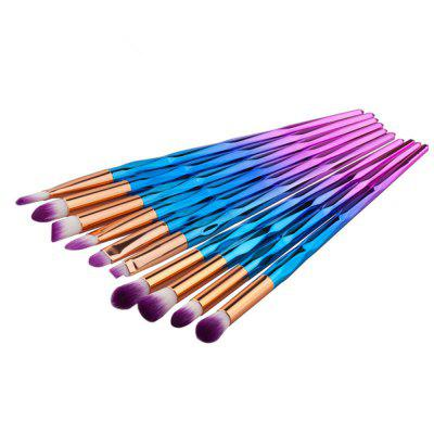 10PCS Rhinestone Tools Pro Powder Foundation Eye Lip Concealer Face Colorful Brush KitMakeup Brushes &amp; Tools<br>10PCS Rhinestone Tools Pro Powder Foundation Eye Lip Concealer Face Colorful Brush Kit<br><br>Brush Material: Nylon<br>Handle Material: Plastic<br>Package Content: 10 x Eye Brush<br>Package size (L x W x H): 18.00 x 6.00 x 1.50 cm / 7.09 x 2.36 x 0.59 inches<br>Package weight: 0.0600 kg<br>Product size (L x W x H): 17.10 x 5.00 x 1.00 cm / 6.73 x 1.97 x 0.39 inches<br>Product weight: 0.0550 kg<br>Used With: Eyeliner,Blusher,Eye Shadow,Sets / Kits,Eyebrow Powder