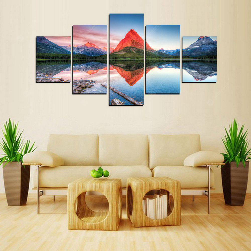MailingArt FIV279  5 Panels Landscape Wall Art Painting Home Decor Canvas Print