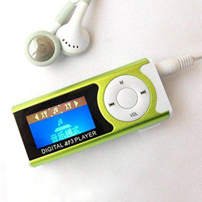 High Quality Compact MP3 Player Support 16GB Micro SD TF Card USB Clip Mini LED Portable LCD