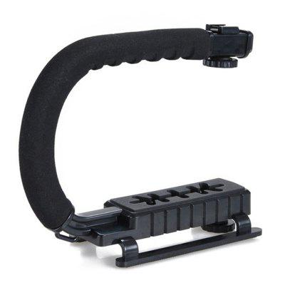 Flash Bracket DV Handheld C-Frame Camera Photography Handheld SLRPhotography Accessories<br>Flash Bracket DV Handheld C-Frame Camera Photography Handheld SLR<br><br>Package Contents: 1 x Flash Bracket<br>Package size (L x W x H): 30.00 x 12.00 x 21.00 cm / 11.81 x 4.72 x 8.27 inches<br>Package weight: 0.7000 kg<br>Product size (L x W x H): 29.00 x 10.50 x 20.00 cm / 11.42 x 4.13 x 7.87 inches<br>Product weight: 0.5000 kg