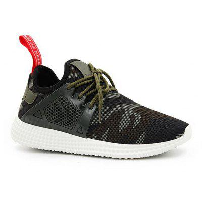 Men Camouflage Casual Sneakers Lace-up Running Shoes