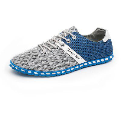 Lightweight Mesh Breathable Sneakers Causal Sports Shoes for MenCasual Shoes<br>Lightweight Mesh Breathable Sneakers Causal Sports Shoes for Men<br><br>Available Size: 39-44<br>Closure Type: Lace-Up<br>Feature: Breathable<br>Gender: For Men<br>Outsole Material: Rubber<br>Package Contents: 1 x Shoes (pair)<br>Package Size(L x W x H): 30.00 x 20.00 x 10.00 cm / 11.81 x 7.87 x 3.94 inches<br>Package weight: 0.6700 kg<br>Pattern Type: Patchwork<br>Season: Spring/Fall<br>Upper Material: Cotton Fabric