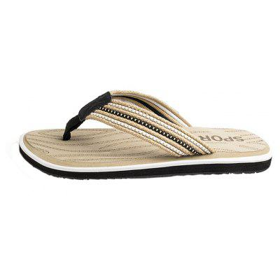 Summer Men Casual Flip-Flops Rubber Slip-On SlippersMens Slippers<br>Summer Men Casual Flip-Flops Rubber Slip-On Slippers<br><br>Available Size: 40-45<br>Embellishment: None<br>Gender: For Men<br>Insole Material: EVA<br>Outsole Material: Rubber<br>Package Contents: 1 x Slippers (pair)<br>Pattern Type: Others<br>Season: Summer<br>Slipper Type: Outdoor<br>Style: Leisure<br>Upper Material: Genuine Leather<br>Weight: 0.8640kg