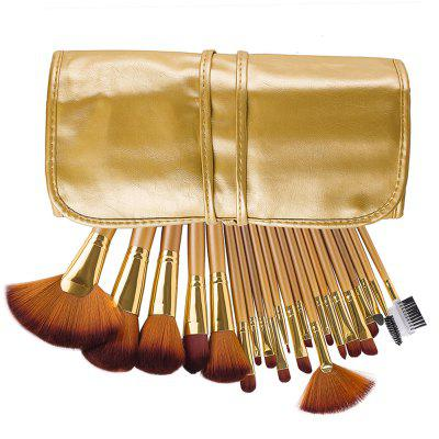 21PCS Make Up Brushes SuitMakeup Brushes &amp; Tools<br>21PCS Make Up Brushes Suit<br><br>Brush Material: Fiber Hair<br>Handle Material: Wood<br>Package Content: 21 x Brush<br>Package size (L x W x H): 24.00 x 13.00 x 4.00 cm / 9.45 x 5.12 x 1.57 inches<br>Package weight: 0.4100 kg<br>Product weight: 0.4000 kg<br>Used With: Blusher,Eye Shadow,Sets / Kits,Eyebrow Powder