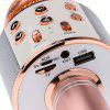 Wireless Bluetooth Karaoke Handheld Microphone USB KTV Player Mic Speaker Record Music Microphones - ROSE GOLD