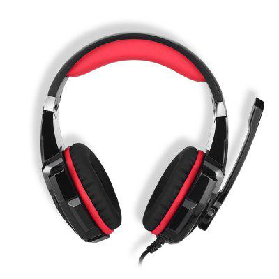 Stereo Gaming Headset for  PC One Controller, Noise Cancelling Over Ear Headphones with Mic, LED Light, Bass Surround, S