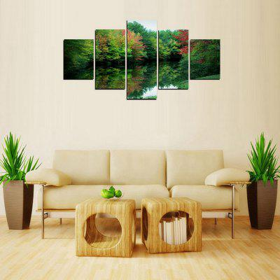 MailingArt FIV306  5 Panels Landscape Wall Art Painting Home Decor Canvas Print