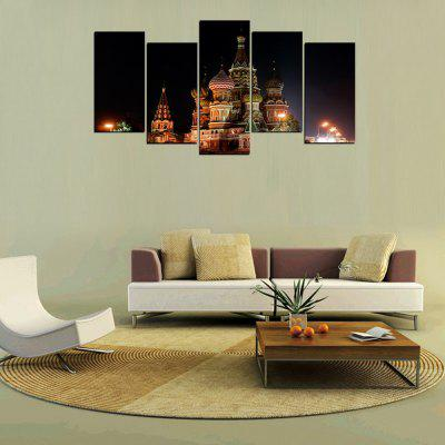 MailingArt FIV312  5 Panels Landscape Wall Art Painting Home Decor Canvas PrintPrints<br>MailingArt FIV312  5 Panels Landscape Wall Art Painting Home Decor Canvas Print<br><br>Craft: Print<br>Form: Five Panels<br>Material: Canvas<br>Package Contents: 5 x Print<br>Package size (L x W x H): 82.00 x 32.00 x 12.00 cm / 32.28 x 12.6 x 4.72 inches<br>Package weight: 1.8000 kg<br>Painting: Include Inner Frame<br>Shape: Horizontal Panoramic<br>Style: Construction, Vintage/Nostalgic Euramerican Style<br>Subjects: Architecture<br>Suitable Space: Living Room,Bedroom,Dining Room,Office,Hotel,Cafes,Kids Room,Kitchen,Pathway,Hallway,Kids Room,Study Room / Office,Boys Room