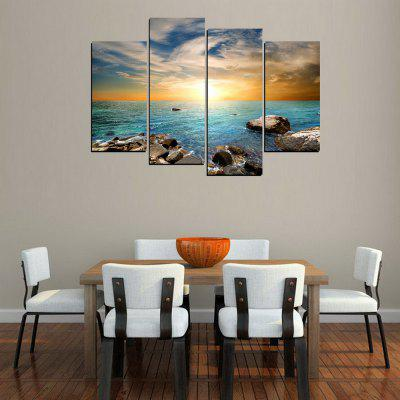 MailingArt FIV315  4 Panels Landscape Wall Art Painting Home Decor Canvas PrintPrints<br>MailingArt FIV315  4 Panels Landscape Wall Art Painting Home Decor Canvas Print<br><br>Craft: Print<br>Form: Four Panels<br>Material: Canvas<br>Package Contents: 4 x Print<br>Package size (L x W x H): 82.00 x 32.00 x 12.00 cm / 32.28 x 12.6 x 4.72 inches<br>Package weight: 1.8000 kg<br>Painting: Include Inner Frame<br>Shape: Horizontal Panoramic<br>Style: Natural, Romantic<br>Subjects: Seascape<br>Suitable Space: Living Room,Bedroom,Dining Room,Office,Hotel,Cafes,Kids Room,Kitchen,Hallway,Kids Room,Study Room / Office