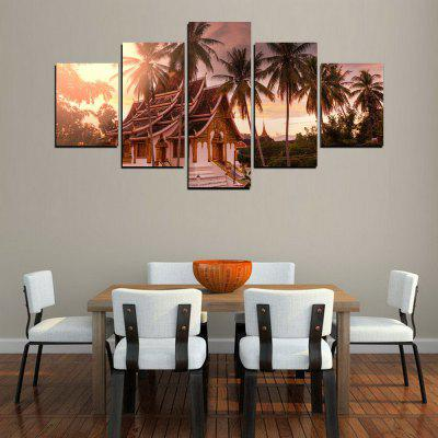 MailingArt FIV323  5 Panels Landscape Wall Art Painting Home Decor Canvas PrintPrints<br>MailingArt FIV323  5 Panels Landscape Wall Art Painting Home Decor Canvas Print<br><br>Craft: Print<br>Form: Five Panels<br>Material: Canvas<br>Package Contents: 5 x Print<br>Package size (L x W x H): 82.00 x 32.00 x 12.00 cm / 32.28 x 12.6 x 4.72 inches<br>Package weight: 1.8000 kg<br>Painting: Include Inner Frame<br>Shape: Horizontal Panoramic<br>Style: Vintage Style, Construction<br>Subjects: Architecture<br>Suitable Space: Living Room,Bedroom,Dining Room,Office,Hotel,Cafes,Kids Room,Kitchen,Corridor,Hallway,Kids Room,Study Room / Office