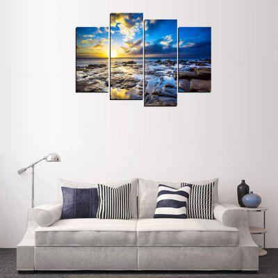 MailingArt FIV329  4 Panels Landscape Wall Art Painting Home Decor Canvas PrintPrints<br>MailingArt FIV329  4 Panels Landscape Wall Art Painting Home Decor Canvas Print<br><br>Craft: Print<br>Form: Four Panels<br>Material: Canvas<br>Package Contents: 4 x Print<br>Package size (L x W x H): 82.00 x 32.00 x 12.00 cm / 32.28 x 12.6 x 4.72 inches<br>Package weight: 1.8000 kg<br>Painting: Include Inner Frame<br>Shape: Horizontal Panoramic<br>Style: Vehicle, Landscape, Popular, Animal, Natural<br>Subjects: Seascape<br>Suitable Space: Living Room,Bedroom,Dining Room,Office,Hotel,Cafes,Kids Room,Kitchen,Hallway,Kids Room,Study Room / Office