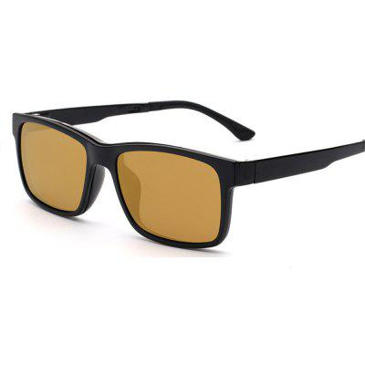 Unisex Magnetic Polarized Sunglasses Clip-on+Light Frame UV400 Protect EyewearMens Sunglasses<br>Unisex Magnetic Polarized Sunglasses Clip-on+Light Frame UV400 Protect Eyewear<br><br>Frame Color: Black<br>Frame Length: 144mm<br>Frame material: ABS<br>Gender: Unisex<br>Group: Adult<br>Lens height: 41mm<br>Lens material: Plastic<br>Lens width: 56mm<br>Package Contents: 1x Sunglasses Clipon , 1 x Frame<br>Package size (L x W x H): 14.00 x 5.00 x 1.00 cm / 5.51 x 1.97 x 0.39 inches<br>Package weight: 0.2000 kg<br>Style: Square<br>Temple Length: 135mm