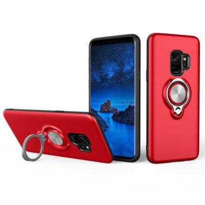 Cover Case for Samsung Galaxy S9 Car Holder Stand Magnetic Suction Bracket Finger Ring convenient universal car mounted suction cup holder for cellphone black red
