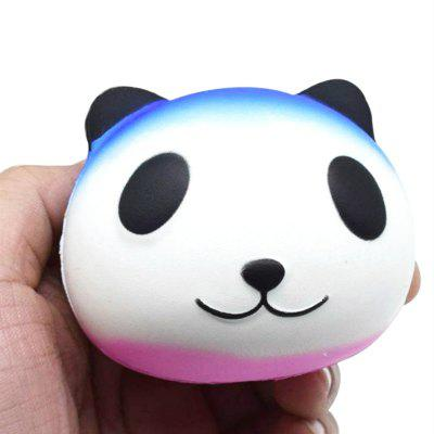 Jumbo Squishy PU Slow Rebound Stress Relief Toy Replica Cartoon White Panda Head for Adults