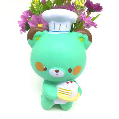 Jumbo Squishy Slow Rebound Stress Relief Toy Replica Cartoon Chef Bear for Adults 1PCSquishy toys<br>Jumbo Squishy Slow Rebound Stress Relief Toy Replica Cartoon Chef Bear for Adults 1PC<br><br>Age Range: &gt; 6 years old<br>Color: Green<br>Materials: PU<br>Package Content: 1 x Toy<br>Package Dimension: 10.00 x 10.00 x 15.00 cm / 3.94 x 3.94 x 5.91 inches<br>Product Dimension: 8.00 x 8.00 x 13.00 cm / 3.15 x 3.15 x 5.12 inches<br>Products Type: Toy<br>Theme: Character<br>Use: Photography Props, Home Decoration, Cabinet Decoration