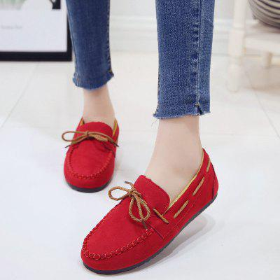 Ladies Flat Bottomed Bean ShoesLoafers<br>Ladies Flat Bottomed Bean Shoes<br><br>Available Size: 36.37.38.39.40<br>Closure Type: Lace-Up<br>Embellishment: None<br>Gender: For Women<br>Outsole Material: Rubber<br>Package Contents: 1 x shoes ?pair?<br>Pattern Type: Others<br>Season: Summer, Spring/Fall<br>Toe Shape: Round Toe<br>Toe Style: Closed Toe<br>Upper Material: Flock<br>Weight: 1.0800kg
