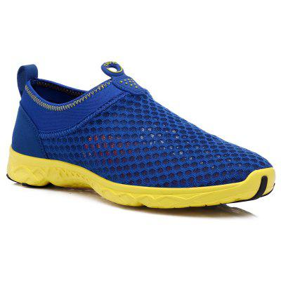 Men's Woven Mesh Hollow Breathable Running Shoes