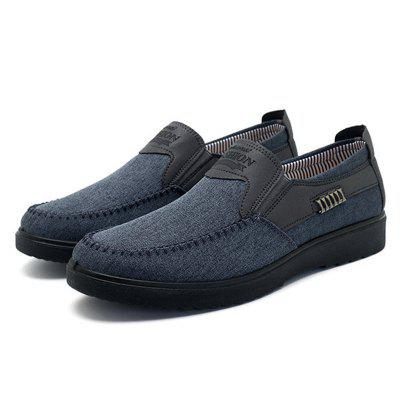 Men Old Peking Hand Stitching Non-slip Casual Cloth ShoesFlats &amp; Loafers<br>Men Old Peking Hand Stitching Non-slip Casual Cloth Shoes<br><br>Available Size: 38-48<br>Closure Type: Elastic band<br>Embellishment: Letter<br>Gender: For Men<br>Insole Material: Rubber<br>Lining Material: Polyester<br>Outsole Material: Rubber<br>Package Contents: 1 x Shoes (Pair)<br>Pattern Type: Geometric<br>Season: Winter, Spring/Fall, Summer<br>Toe Shape: Square Toe<br>Toe Style: Closed Toe<br>Upper Material: Cotton Fabric<br>Weight: 1.5000kg